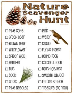 It's that time of the year! Time for camping, time for hiking, time for youth camps, & time to get outdoors! Nature Scavenger Hunt; Free Printable for kids.