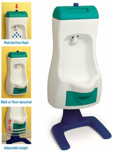 I DIDN'T KNOW THEY MADE THESE!!! (potty training for boys).  This is pretty awesome