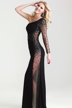 Shop 2014 Sexy Sheath Black Floor Length One Shoulder Evening Dresses Online affordable for each occasion. Latest design party dresses and gowns on sale for fashion women and girls.