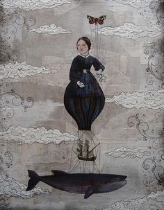 sarah ogren // I see Emily Dickinson & all those chapters in Moby Dick on whales. So... perfect & beautiful!