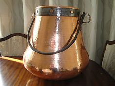 Large Copper urn with Handle