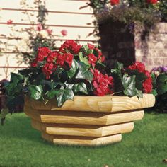 LANDSCAPE TIMBER BOWL PLANTER