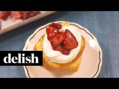 Looking for easy strawberry recipes? This recipe from Delish.com is the best. Delish Videos, Roasted Strawberries, Strawberry Recipes, Healthy Treats, Sweet Tooth, Sweet Treats, Dinner Recipes, Cooking Recipes, Yummy Food