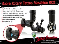 Very light, very silent and very powerful - the Sabre rotary tattoo machine DCX. Pros all over the world love it! (E.g. Raphyo Style, Adam Sargent and Craig Cardwell). #sabretattoo #tattoomachine #rotarytattoomachine #sabreDCX #sabrerotary #tattoobedarf #tattoosupply #tattooequipment #tattooequip #tattoostuff #tribaljewelrysupply #tattoosupport