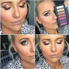 Younique Addiction Eye Shadow Palette number 5 and Plush lip liner. Complete makeup look created with Younique products. Create and perfect fall makeup look or a bold rainbow look using this new awesome eye shadow palette.