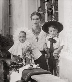 Frida with her Niece and Nephew