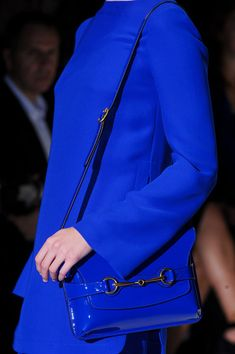 Blue Blue Blue!  Blue Color Trends forSpring Summer 2013.  Gucci Spring Summer 2013.   #Fashion #Trends