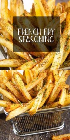 French Fry Seasoning, Seasoning Mixes, Potato Seasoning Recipe, Seasoned Fries, Seasoned French Fries Recipe, Garlic French Fries, Deep Fried French Fries, French Fry Recipe Baked, Air Fry French Fries