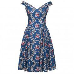 Sophia Dress blue baroque