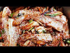 배추겉절이쉽고맛있게하는꿀팁 - YouTube Korean Food, Pulled Pork, Japchae, Ethnic Recipes, Shredded Pork, Korean Cuisine, Braised Pork