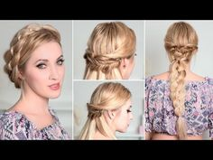 cool Coiffure de mariage 2017 - Holiday hairstyles with braids for medium/long hair tutorial