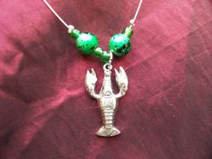 Under the Sea Handmade Necklace with Lobster by ReprievesCorner, $17.99