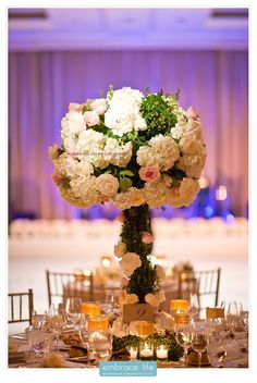 Large Cream and Pink Floral Wedding Centerpiece - Elegant Centerpieces, Rustic Wedding Ideas