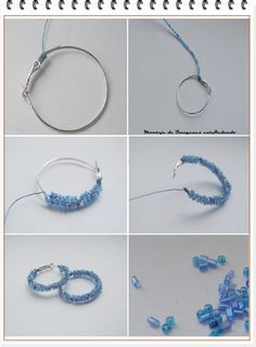 You are in the right place about DIY Wire Earrings hoop Here we offer you the most beautiful pictures about the DIY Wire Earrings studs you are looking for. When you examine the part of the picture yo Wire Jewelry Designs, Handmade Wire Jewelry, Jewelry Patterns, Handmade Accessories, Earrings Handmade, Jewelry Crafts, Jewelry Art, Bead Jewellery, Beaded Jewelry