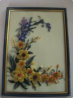 Картина панно рисунок День семьи Квиллинг Бумажная филигрань или квиллинг Бумага фото 4
