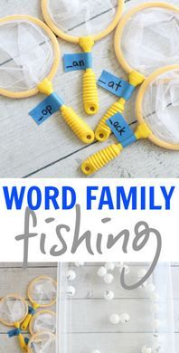 Pediatric Therapy Activity of the Week: Word Family Fishing - pinned by @PediaStaff – Please Visit ht.ly/63sNtfor all our pediatric therapy pins
