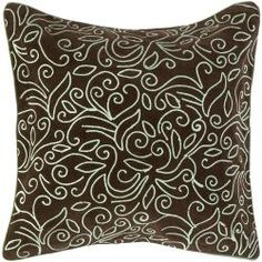 @Overstock.com - This floral brown/blue decorative throw pillow can be used to complement a couch or bedroom suite. The soft blue and espresso color palette is extremely modern and chic, while suitable for both a contemporary and traditional home decor.http://www.overstock.com/Home-Garden/Genk-Brown-Blue-Decorative-Pillow/6444250/product.html?CID=214117 $33.99
