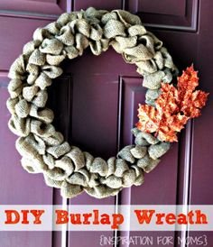 DIY Burlap Wreath Tutorial @laurainspired  : Featured Post on Turn it up Tuesdays