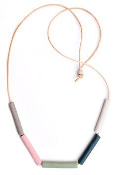 Pastel Spectrum Necklace  handmade in Australia