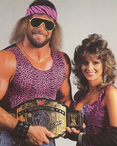 Macho Man and Miss Elizabeth....I want someone to dress up like this with me for Halloween!