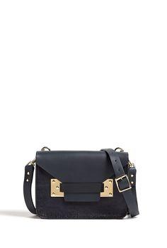 Mini Lizard Leather Envelope Shoulder Bag by Sophie Hulme