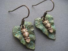 Tiny Owl Earrings - Owl Jewelry - Owl Earrings. $18.00, via Etsy.