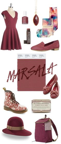 Marsala is Spring 2015 Pantone Colour of the year. It's a rich, elegant, warm, full bodied colour that works well on it's own and pairs well with others.
