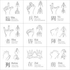Kuji-in meditations. (Ninjutsu Mudras) (when mastered chi gong/chi flow that runs through the human body and mix it with the mudra signs above you can do superhuman things that were only thought to be in tv shows and games)