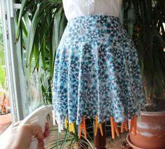 Как выровнять низ юбки солнце, полусолнце, по косой   Как сшить юбку от А до Я. Выкройки. Фасоны. Модные модели
