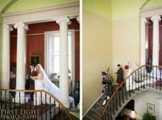 Processing down the magnificent staircase at Wedderburn Castle