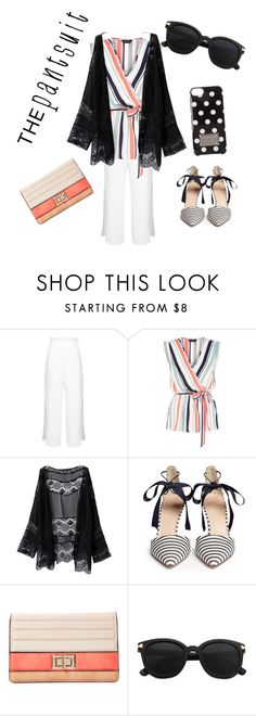 """""""Black and white pantsuit"""" by cheryl-crouch-hanson ❤ liked on Polyvore featuring Miss Selfridge, New Look, J.Crew, Melie Bianco, MICHAEL Michael Kors and thepantsuit"""