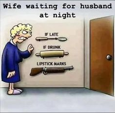 Wife waiting for husband at night #bluechipentertainment #funny #funnypics #Entertainment #entertainmentweekly #Entertainment_Weekly #fun #funfact #funkibaat #funkibaat100 #hilarious