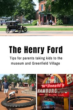 A mom's advice for planning a trip to The Henry Ford complex with children, including tips, great things to see & do with young kids. Dearborn Michigan, Detroit Michigan, Lake Michigan, Michigan Vacations, Michigan Travel, Midwest Vacations, Places To Travel, Places To Go, Henry Ford Museum