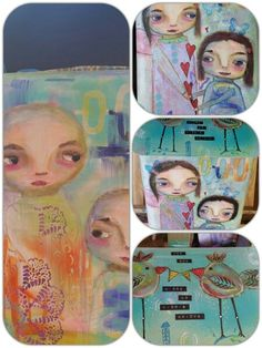 A friend ask me to paint her mailbox. I rubbed it down after a good wash then gesso, painting many layers with acrylic paint and stencils. Coated 7 layers with clearcoat for cars 7 Layers, Mixed Media Painting, Mailbox, Stencils, Phone Cases, Cars, Plaster Coving, Post Box, Autos