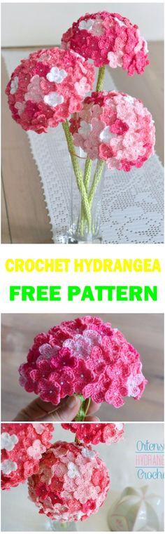Crochet HYDRANGEA Flower Free Pattern