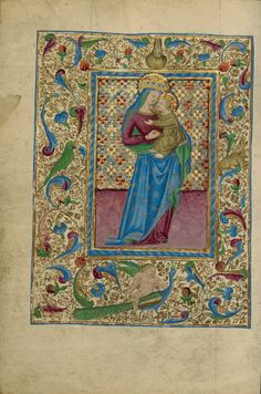 The Virgin and Child, about 1460, Tempera colors, gold, and ink on parchment Leaf: 17.1 × 12.1 cm (6 3/4 × 4 3/4 in.) The J. Paul Getty Museum, Los Angeles