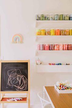 Nova's Playroom Reveal – A Beautiful Mess Playroom Layout, Playroom Design, Playroom Decor, Home Decor Bedroom, Kids Bedroom, Playroom Ideas, Kids Rooms, Playroom Colors, Art Rooms