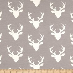 Designed by Bonnie Christine for Art Gallery Fabrics, this collection is inspired by the outdoors. Frolic through the woods with this deer head jersey knit fabric. This lightweight stretch cotton jersey knit is perfect for making t-shirts, loungewear, leggings, children's apparel, knit dresses and more! It features a soft hand and about a 50% four way stretch for added comfort and ease.