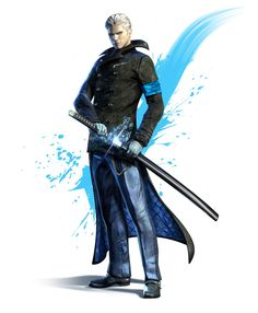 View an image titled 'Vergil Art' in our DMC: Devil May Cry art gallery featuring official character designs, concept art, and promo pictures. Devil May Cry 4, Character Concept, Character Art, Character Design, Game Concept, Vergil Dmc, Giant Bomb, Concept Art World, Fans