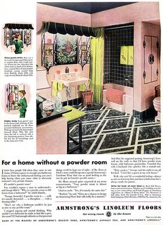 1940's Armstrong Linoleum Floor Ad (Pinned from Chronically Vintage)