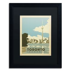 'Toronto, Canada' by Anderson Design Group Framed Graphic Art