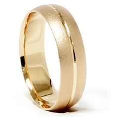 Mens 14k Yellow Gold Comfort Fit 6MM Wedding Band Ring - $399