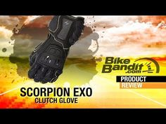 Scorpion EXO Clutch Motorcycle Glove at BikeBandit.com - YouTube