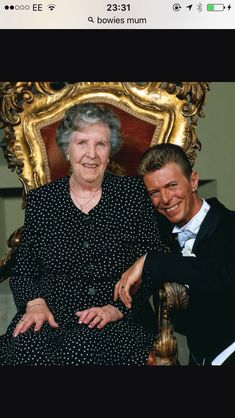 David Bowie with his Mum.