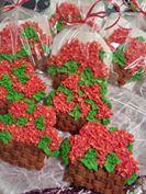 Weaved Flower Basket Cookies