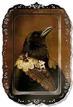 """Bernardo Tray from the collection Au grand Theatre by Ibride. This """"art"""" tray features Bernardo The Crow, Quoth The Raven, Raven Art, Crow Art, Raven Queen, Broken Wings, Jackdaw, Crows Ravens, Cool Ideas"""