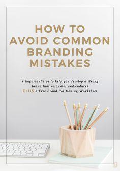 Branding Advice | Branding Tips | Branding Design | Avoiding Common Branding Mistakes by The Proper Type™️