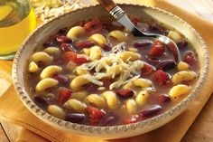 Learn how to make delicious Tuscan Pasta & Bean Soup.
