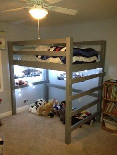 Builders Showcase: Low Loft Bunk Twin with Vertical Ladder | The Design Confidential