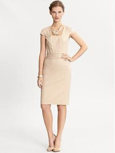 Cap sleeve sheath | Banana Republic